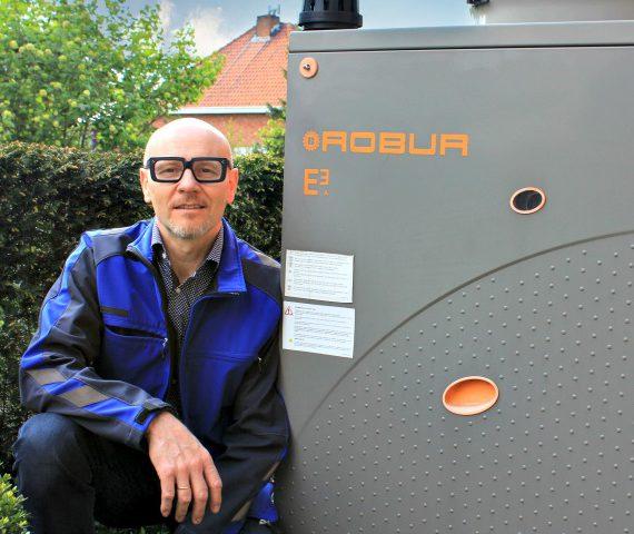 Installatie van een warmtepomp van Robur